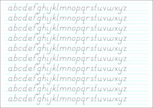 10-Line Large: basic letters