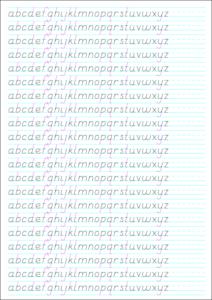 21-Line Asc-Desc: basic letters